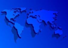 blå kontinent royaltyfri illustrationer