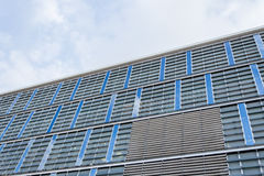 Blå kontorsbyggnadtextur Royaltyfri Bild
