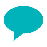 blå konversationbubbla Arkivfoton