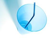 blå kopp Fotografering för Bildbyråer