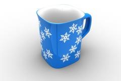 blå kopp Royaltyfri Fotografi