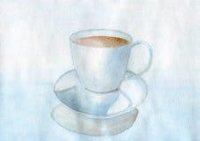 blå kopp Arkivfoto
