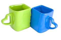 blå koppgreen Arkivfoton