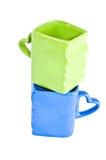 blå koppgreen Royaltyfria Bilder