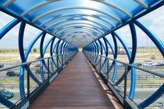 Blå korridor Royaltyfri Fotografi