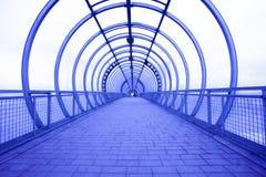 blå korridor arkivfoto