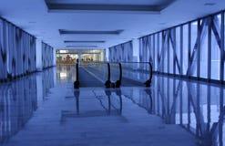 blå korridor Royaltyfri Bild