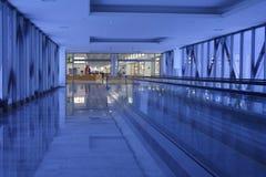 blå korridor Royaltyfria Bilder