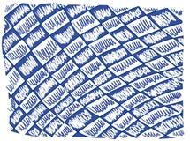 Blå korsBrushs linje arkivbild