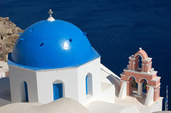 blå korskupol Arkivfoton