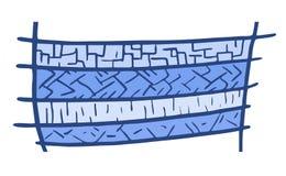 blå kortdesign Arkivbild