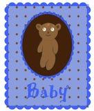 blå korthälsningsvektor royaltyfri illustrationer