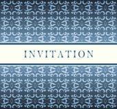 blå kortinbjudan Royaltyfri Fotografi