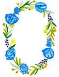 Blå krans Royaltyfri Bild