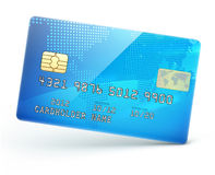 Blå kreditkort stock illustrationer