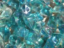 blå kristall royaltyfri bild