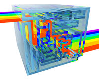 blå kristall inom mazeregnbågen Fotografering för Bildbyråer