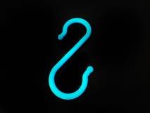 Blå krok för färg S Arkivfoton