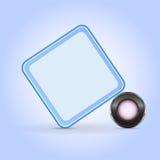 blå kub Royaltyfri Foto
