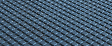 Blå kubtextur för abstrakt begrepp 3D Royaltyfria Bilder