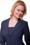 blå kvinna för affärsdräkt Arkivfoto