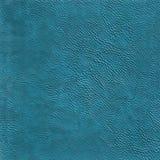 blå lädertextur för bakgrund Royaltyfri Fotografi