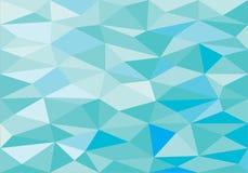 Blå låg poly abstrakt bakgrund Royaltyfri Fotografi