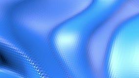Blå låg poly deformerande yttersida som fantastisk lättnad Blått polygonal geometriskt deformerande miljö eller pulserar stock illustrationer