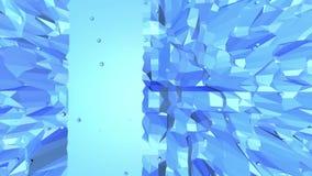 Blå låg poly fladdra yttersida som bakgrund för tecknad film 3d Blått polygonal geometriskt fladdra miljö eller pulserar stock illustrationer