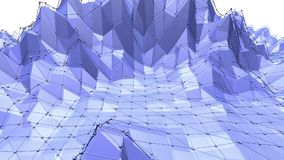 Blå låg poly fladdra yttersida som geometriskt ingrepp Blå polygonal geometrisk fladdra miljö- eller pulserarbakgrund stock illustrationer