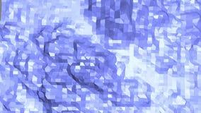 Blå låg poly omformande yttersida som geometriskt raster Blått polygonal geometriskt omformande miljö eller pulserar royaltyfri illustrationer