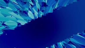 Blå låg poly plast- yttersida som geometriskt raster Blå polygonal geometrisk plast- miljö- eller pulserarbakgrund in vektor illustrationer
