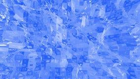 Blå låg poly plast- yttersida som modemiljö Blått polygonal geometriskt plast- miljö eller pulserar stock illustrationer
