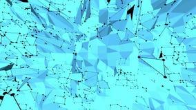 Blå låg poly plast- yttersida som plast- miljö Blått polygonal geometriskt plast- miljö eller pulserar royaltyfri illustrationer
