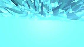 Blå låg poly vibreringsyttersida som enkel bakgrund Blått polygonal geometriskt vibrerande miljö eller pulserar vektor illustrationer