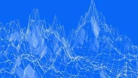 Blå låg poly vibreringsyttersida som härlig bakgrund Blått polygonal geometriskt vibrerande miljö eller pulserar royaltyfri illustrationer