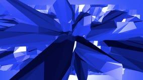 Blå låg poly vibreringsyttersida som unik bakgrund Blått polygonal geometriskt vibrerande miljö eller pulserar royaltyfri illustrationer