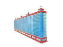 Blå lång skyskrapa Royaltyfri Fotografi