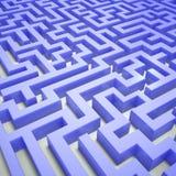 Blå labyrint Royaltyfri Bild