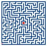 blå labyrint royaltyfri illustrationer