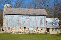 Blå ladugård i Wisconsin royaltyfria foton