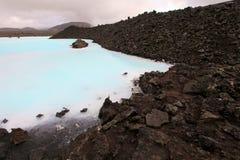 Blå lagun royaltyfria bilder