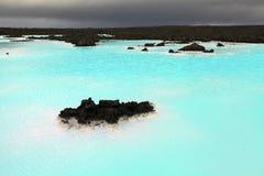 Blå lagun royaltyfri bild