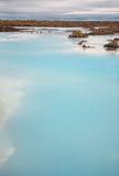 blå lagun Arkivfoton