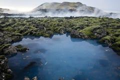 blå lagun Arkivbild