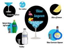 blå lagun stock illustrationer
