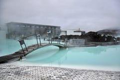 Blå lagun, geotermisk brunnsort royaltyfri fotografi