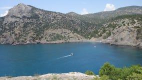 Blå lagun i Krimet Royaltyfria Foton