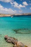 Blå lagun Malta Arkivfoton