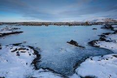 Blå lagun nästan Grindavik, Island, Europa royaltyfri fotografi